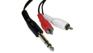 Cavo Audio Stereo 1.5 mt Jack 6.3mm - 2 RCA