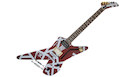 EVH Striped Series Shark PF Burgundy with Silver Stripes