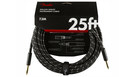 FENDER Deluxe Series Instrument Cable Straight/Straight 7.5m Black Tweed