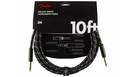 FENDER Deluxe Series Instrument Cable Straight/Straight 3m Black Tweed