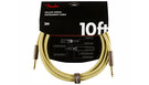FENDER Deluxe Series Instrument Cable Straight/Straight 3m Tweed