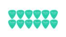 FENDER Pack 12 Plettri California Clear Heavy Surf Green