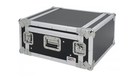 "Flight Case 4 Unità Rack 19"" con Supporto Mixer Inclinabile"