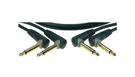 KLOTZ AU-AJJ0060 Unbalanced Patch Cable Set with Angled Jack