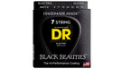 DR STRINGS BKE7-9 Black Beauties Electric