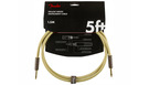 FENDER Deluxe Series Instrument Cable Straight/Straight 1.5m Tweed