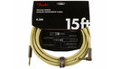 FENDER Deluxe Series Instrument Cable Straight/Angled 4.5m Tweed