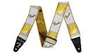 "FENDER Weighless 2"" Monogrammed Strap  White/Brown/Yellow"