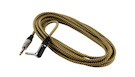 ROCKBAG RCL 30256 TC D/GOLD Instrument Cable Jack Angled/Straight Gold Tweed 6m