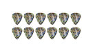 FENDER 351 Shape Premium Picks Extra Heavy - Abalone (12 Count)
