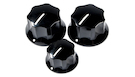 FENDER Pure Vintage '60s Jazz Bass Knobs (3) Black