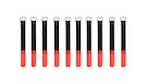 ROCKBOARD Cable Ties 20mmx200mm, Red (10pcs)