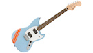 FENDER Squier FSR Bullet Competition Mustang HH LRL Daphne Blue w/Orange Stripes