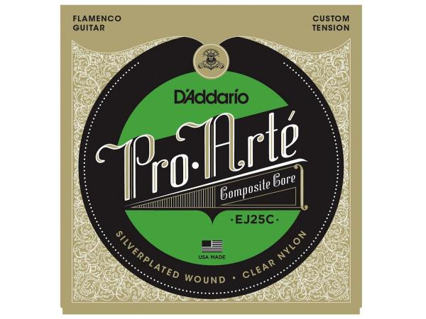 D'ADDARIO EJ25C Clear Nylon Composite, Flamenco