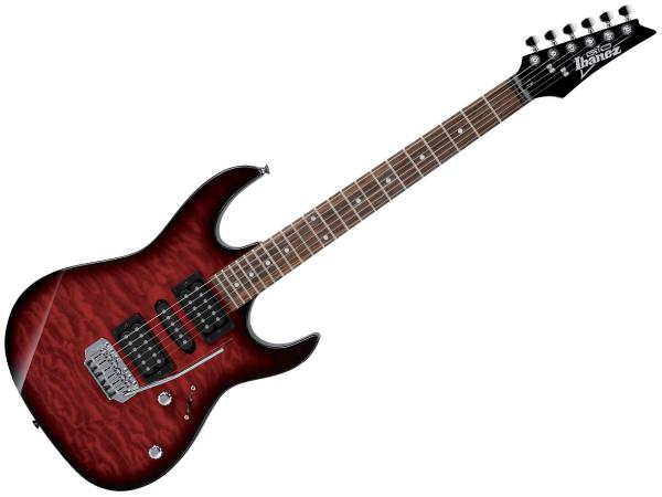 IBANEZ GRX70QA TRB Transparent Red Burst
