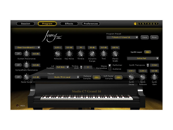 SYNTHOGY Ivory II Grand Pianos