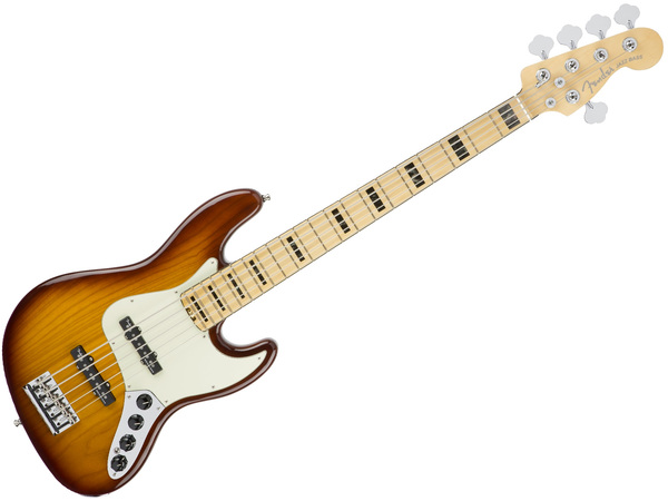 FENDER American Elite Jazz Bass V Ash MN Tobacco Burst