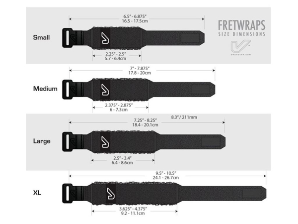 GRUV GEAR FretWraps Wood (Small) - 3 Pack