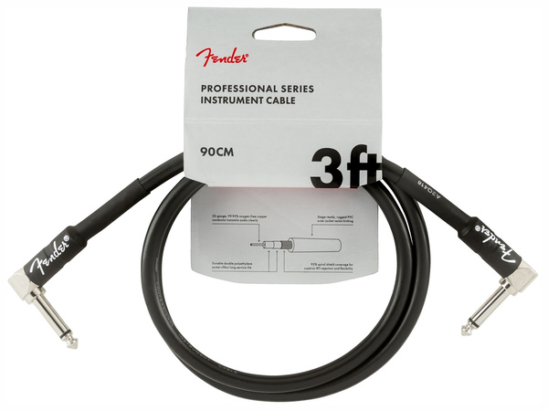 FENDER Professional Series Instrument Cable 90cm Black