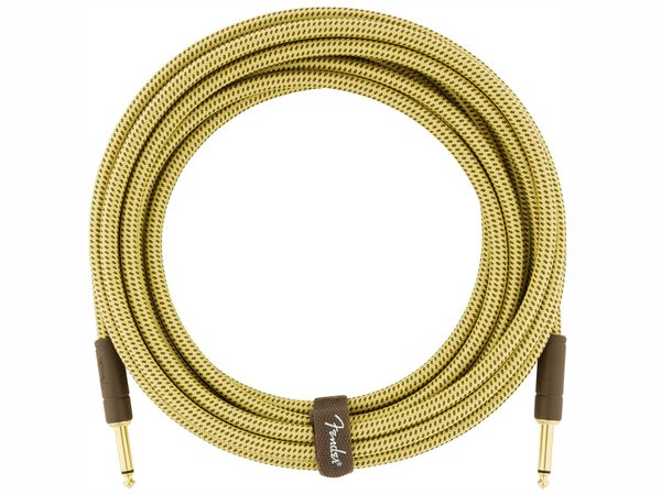 FENDER Deluxe Series Instrument Cable Straight/Straight 5.5m Tweed