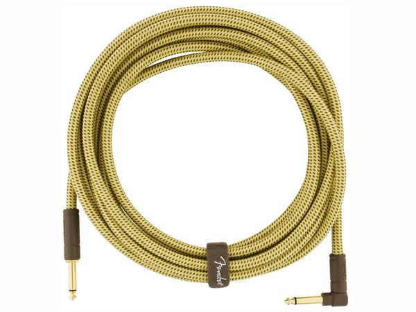 FENDER Deluxe Series Instrument Cable Straight/Angled 5.5m Tweed
