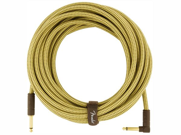 FENDER Deluxe Series Instrument Cable Straight/Angled 7.5m Tweed