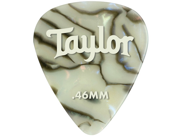 TAYLOR Celluloid 351 Guitar Picks Abalone .46mm (Light) 12-Pack