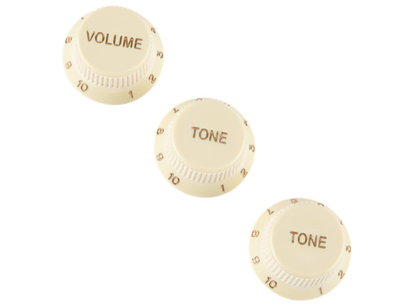 FENDER  Stratocaster Soft Touch Knobs Aged White