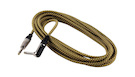 ROCKBAG RCL 30253 TC D/GOLD Instrument Cable Jack Angled/Straight Gold Tweed 3m